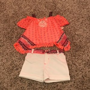 24 months Little Lass 2 piece shorts outfit